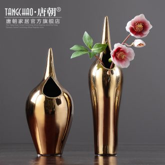 Tang dynasty household light european-style luxury furnishing articles creative ceramic vase living room table mesa adornment ornament arranging flowers