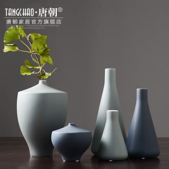 Tang dynasty, modern Chinese style household American ceramic vases, furnishing articles Nordic table dry flower arranging flowers sitting room adornment