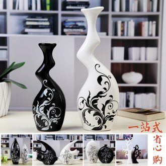 Contemporary and contracted vases, flower receptacle sitting room creative TV ark home decoration ceramic handicraft furnishing articles