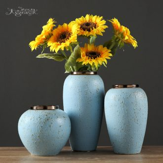 European rural ceramic vase decoration in the sitting room TV ark household table small pure and fresh and dry flower adornment furnishing articles
