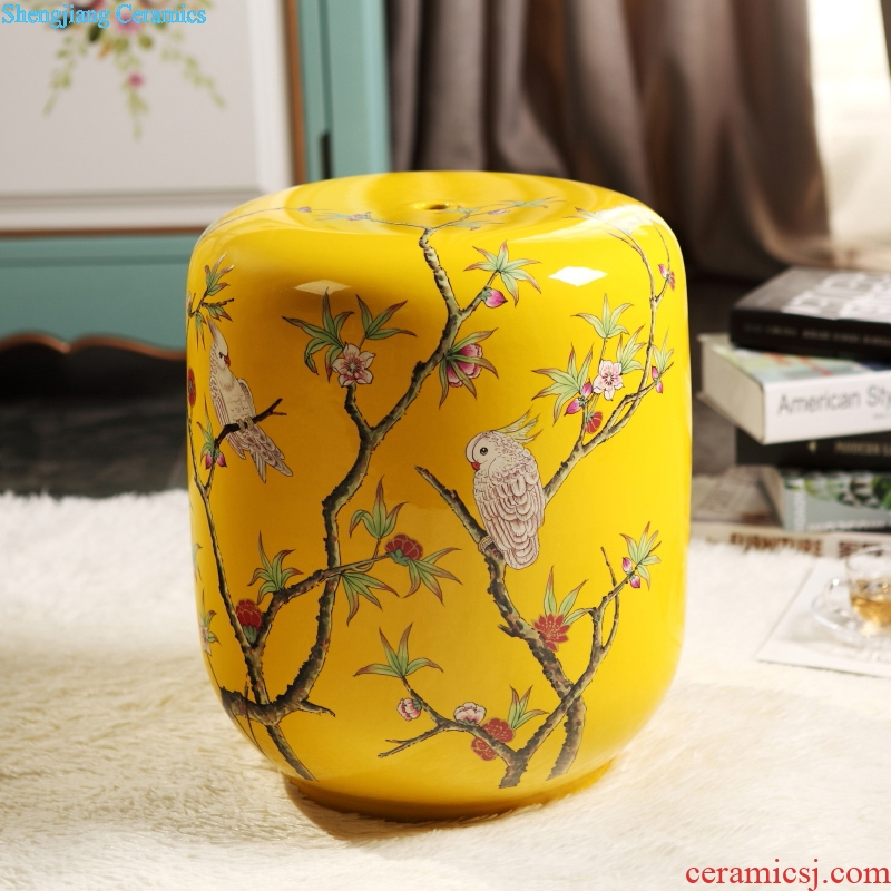 Household porcelain of jingdezhen ceramic stool to cool a chair pier in shoes stool porcelain stool drum cold pier stool light decoration