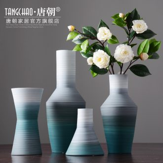 Tang dynasty, modern household contracted morandi color ceramic vase living room table dry flower arranging flowers furnishing articles ornaments