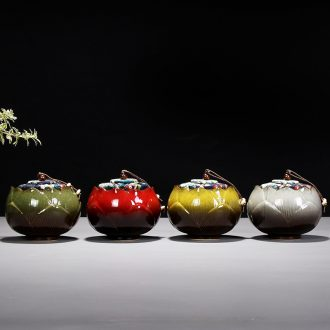 Leopard lam travel deposit caddy jingdezhen ceramics receive sealed box store large portable small POTS of household