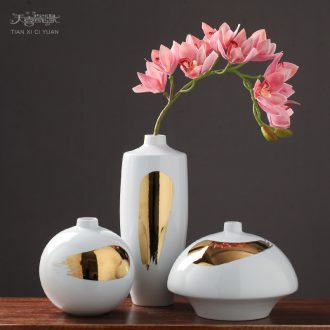 Postmodern ceramic vase furnishing articles european-style originality contracted sitting room table, TV ark flower arranging, home decoration