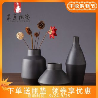 Black flower arranging furnishing articles of contemporary sitting room is contracted decorative dried flower vases, jingdezhen ceramic vase zen study