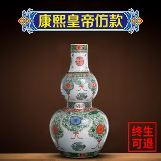 Better sealed kiln jingdezhen manual coloured ceramic vases, furnishing articles gourd bottle home decor hand-painted the sitting room porch