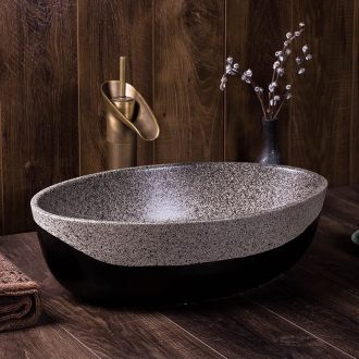Ceramic lavatory basin stage basin oval home outfit Chinese style restoring ancient ways of household toilet lavabo that defend bath