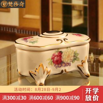 Vatican Sally's luxurious ceramic toothpicks extinguishers european-style toothpick box of creative portable toothpicks cans sitting room home decoration furnishing articles