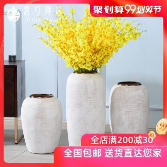 Jingdezhen ceramic vase sitting room place of large clothing store ins decorations pottery flower arranging dried flowers