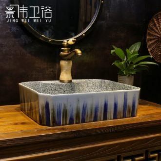 On the ceramic basin sink sapphire double-color graffiti art basin bathroom sinks lavabo household
