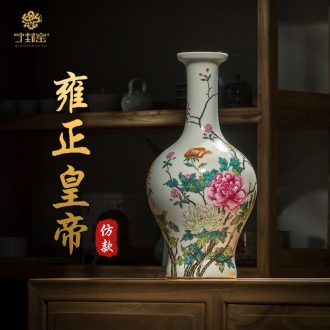 Better sealed kiln jingdezhen furnishing articles of new Chinese style household enamel porcelain vase hand-painted dish buccal bottle sitting room adornment