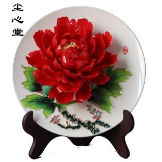 Dust heart luoyang peony porcelain home decoration ceramic crafts gift furnishing articles TV in the living room