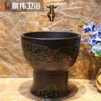 JingWei jingdezhen ceramic art sculpture mop pool retro mop pool toilet household cleaning mop pool
