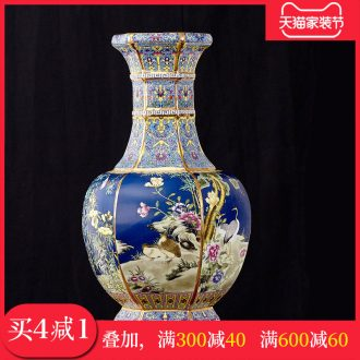 Chinese classical jingdezhen ceramics imitation qianlong year antique vase sitting room adornment handicraft furnishing articles present