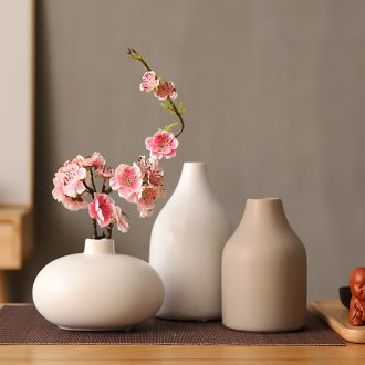 Tea art ceramic dry flower vase decoration home furnishing articles Japanese plum blossom peach sitting room household art flower arranging suits