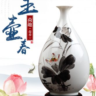 Oriental soil dehua white porcelain hand-painted vases furnishing articles creative ceramic sitting room adornment okho spring/3