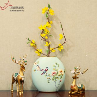 American country creative ceramic vase continental simulation floral suit sitting room adornment flower arranging wedding gift furnishing articles