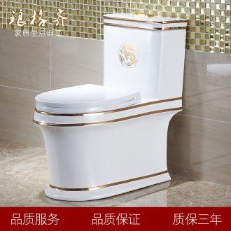 Koh larn lattice terms with color toilet implement personality Mosaic gold toilet pumping mute odor-proof ceramics sit lavatory