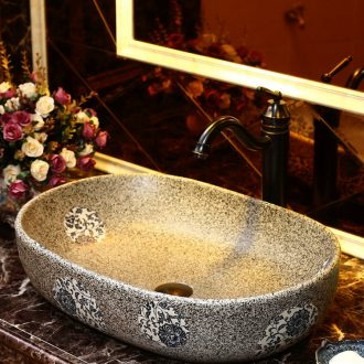 Zhao song American art on the stage basin on the ceramic toilet lavabo oval blue and white Chinese wash basin