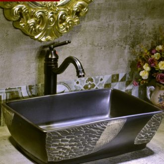 Basin of Chinese style restoring ancient ways on the ceramic square small lavabo creative household balcony sink the pool that wash a face 32 cm