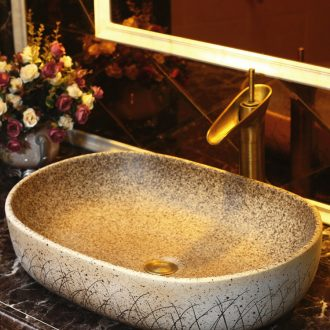 Creative stage basin sink oval restoring ancient ways of song dynasty Chinese art ceramic lavatory basin basin of household