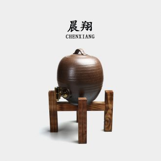 Morning xiang tank water storage tank ceramic tank water barrels of coarse pottery store tank pottery cylinder tank with tap water
