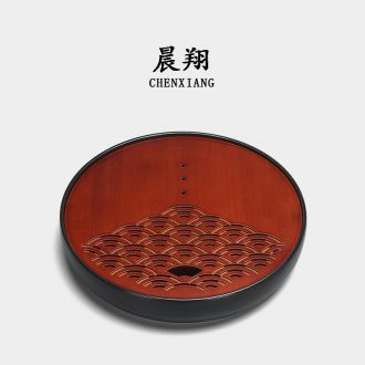 Chen xiang creative carbonized bamboo household water storage ground embedded circular dry bubble taichung ceramic restoring ancient ways