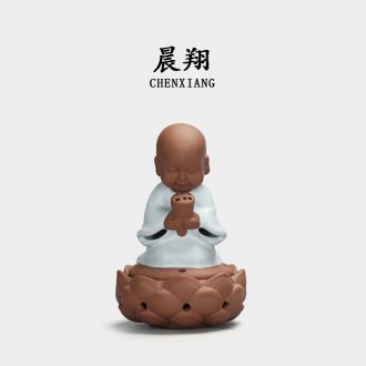 Chen xiang ceramic incense burner your kiln little monk monk vows dish fragrant incense burner aloes sandalwood smoked furnace home furnishing articles