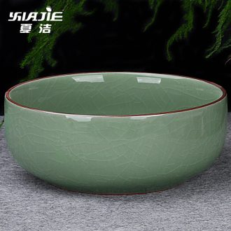 Four-walled yard pen XiCha wash bowl cup wash pot large kung fu tea accessories small ceramic tea set