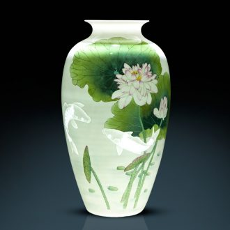 Jingdezhen ceramic manual hand-painted vases knife clay Angle of a few years of new Chinese style more than sitting room adornment is placed