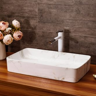 Ceramic lavabo toilet household washing basin thickening hotel on restoring ancient ways plate toilet art stage basin