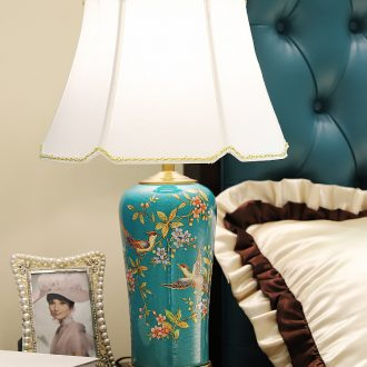 American enamel lamp decoration ceramics art hand-painted all copper modern painting of flowers and restoring ancient ways of carve patterns or designs on woodwork sitting room the bedroom of the head of a bed