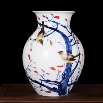Cixin qiu - yun celebrity famous master hand-painted vases of jingdezhen ceramic blue and white porcelain vases, high-grade household crafts