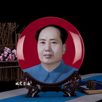 Dust heart jingdezhen ceramic red bottom MAO like watching hang dish desk reveals ark rich ancient frame TV ark outfit