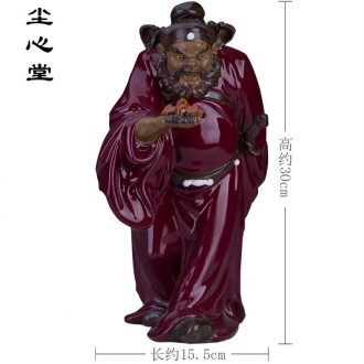 Dust heart ceramic sculpture a great evil, evil spirit a flasher, a sitting room porch place feng shui guide f hall tianshi doors
