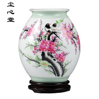 "Dust heart of jingdezhen ceramics celebrity virtuosi beaming vase ""Han Pinghui master hand"