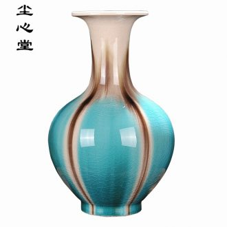 Dust heart of jingdezhen ceramics flower vase sitting room decoration new Chinese style household adornment handicraft rich ancient frame
