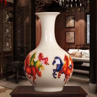 Gold dust heart of jingdezhen ceramics straw beaming bottles of contemporary sitting room the bedroom decoration process