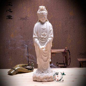 Dust heart dehua white porcelain Buddha buddhist worship supplies dehua ceramic boutique xiangyun guanyin wealth and good luck