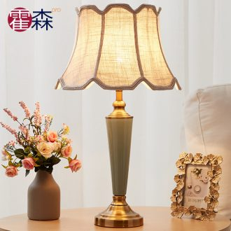 European fashion desk lamp of bedroom the head of a bed warm married the creative study ceramic sitting room is contracted household adornment lamps and lanterns