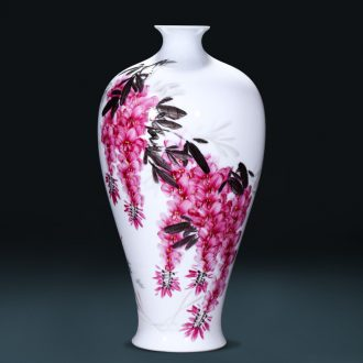 Master of jingdezhen ceramics sabingga sukdun dergici jimbi hand-painted vases, flower arranging the sitting room TV ark adornment furnishing articles