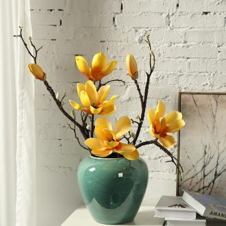 American ceramic dry vase creative flower arrangement is restoring ancient ways to decorate household act the role ofing is tasted contracted and contemporary European furnishing articles in the living room