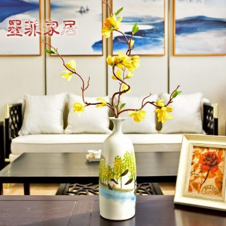 Murphy's new Chinese creative hand-painted ceramic vases, flower art flower arranging machine sitting room ark home furnishing articles