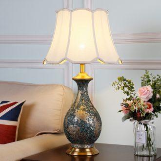 American ceramic copper lamp example room sitting room bedroom berth lamp contracted creative jingdezhen ceramic villa