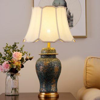 American traditional ceramic lamps fashion contracted sitting room adornment lamp classical example room hotel bedroom berth lamp