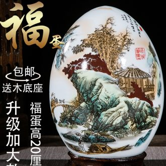 Jingdezhen ceramic vase eggs furnishing articles sitting room adornment small creative home furnishings TV ark arts and crafts