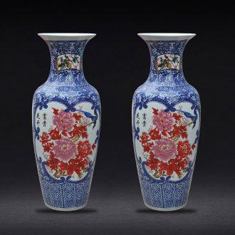Sheng hao jingdezhen ceramic floor office opening ceremony decoration crafts sitting room place large vase