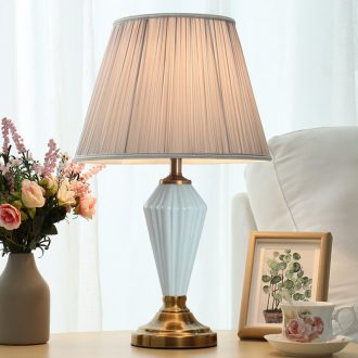 American minimalist bedside lamp bedroom sweet romance ceramic modern living room study marriage room move light decoration