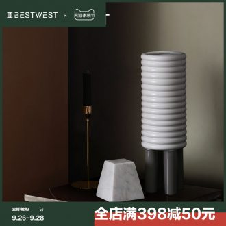 BEST WEST sample room is ceramic vase creative living room large porcelain soft light luxury decoration decoration