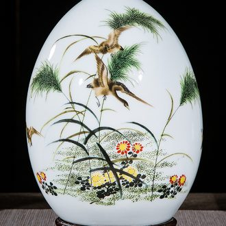 Jingdezhen ceramics vase of contemporary and contracted home sitting room handicraft wine creative egg ornament furnishing articles